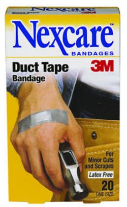 Duct tape bandages are Band-Aids for tough guys