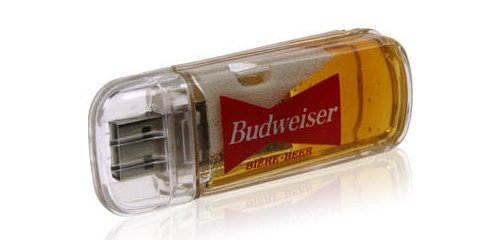 Beer-filled USB flash drive to break in case of emergency