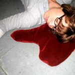 Blood Puddle pillows are perfect for Halloween