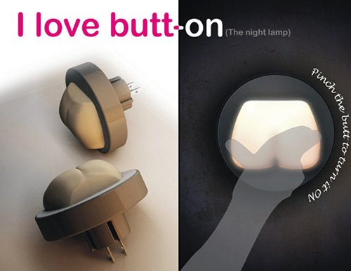 Butt-on protects you from the dark with glowing cheeks