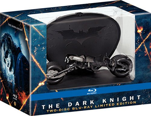 Limited Edition Dark Knight Blu-ray with Bat-Pod display