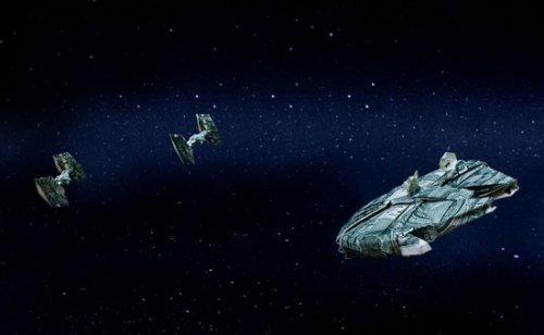 Origami Star Trek & Star Wars spaceships made from dollars