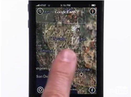 Google Earth for the iPhone and iPod Touch