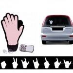 """The Hand"" lets you flip off other drivers, throw gang signs"