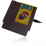 External hard drive in an NES cartridge case