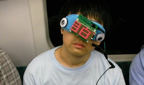 Commuter sleep goggles rely on the kindness of strangers