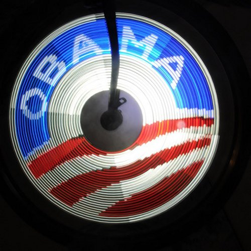 DIY SpokePOV lights up your bike, shows support for Obama