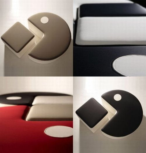 Poufman: Pac-Man inspired furniture