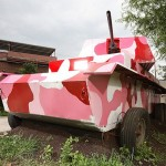 Beware the pink tank: It shoots hot dogs