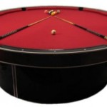 Round pool table, no more corner pockets