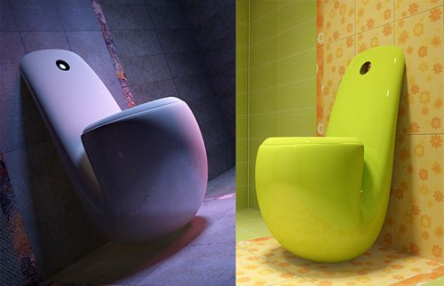 Mrs. Hudson, the toilet that looks like a pipe