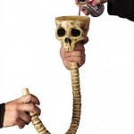 Skull Beer Funnel for Halloween drinking fun