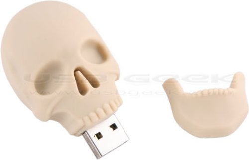Human Skull USB drive is bone-headed