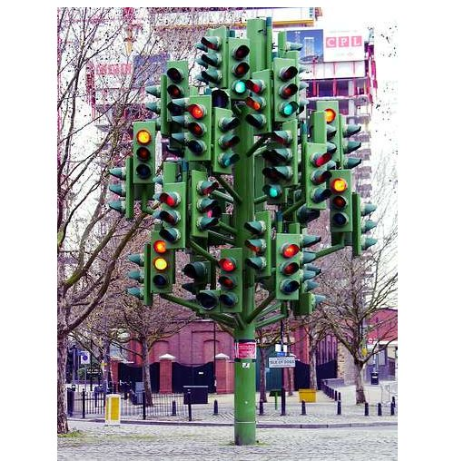 The Traffic Tree is one confusing stop-light
