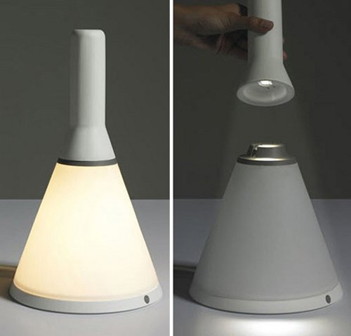 Flashlight & lamp get together in one device