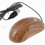 Wood Grain USB optical mouse