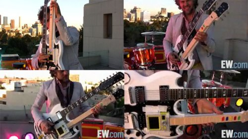 Wayne Coyne's Guitar Hero controller mod