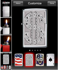 Zippo App for iPhone