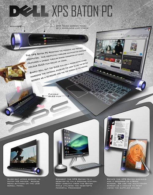 Dell XPS Baton PC concept