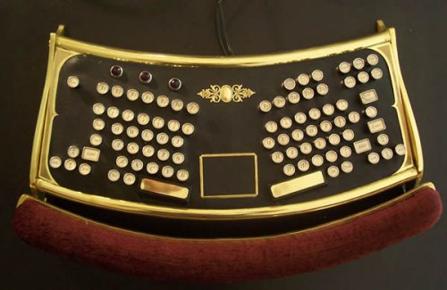 Datamancers ergonomic Steampunk keyboard
