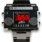 LED boombox wrist watch
