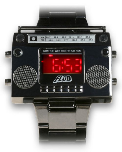 LED boombox wrist watch