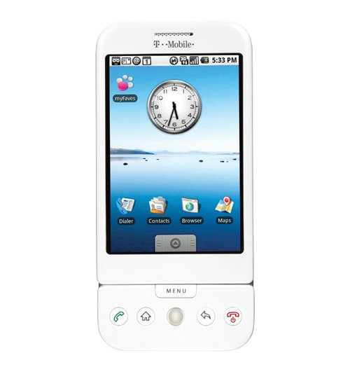 T-Mobile G1 now available in wintry white