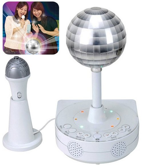 Sega's Disco Ball Karaoke Machine connects to cellphones