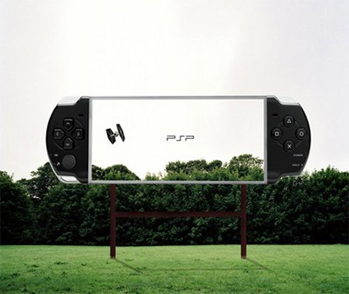 Transparent Billboards promoting Sony PSP