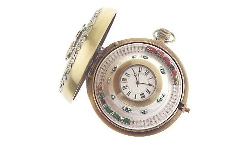 Micro-trains run on time in this pocket-watch