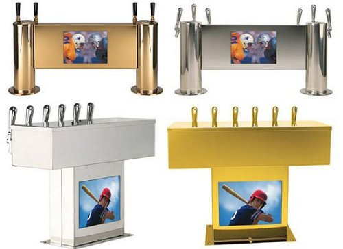 Beer Tap with LCD TV built-in