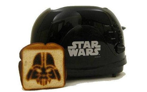 Darth Vader toaster brands your bread with the dark side