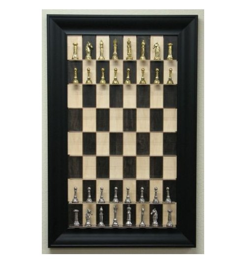 Vertical Chess Board puts your game on the wall