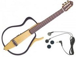 Yamaha Silent Guitar lets your strumming be seen and not heard