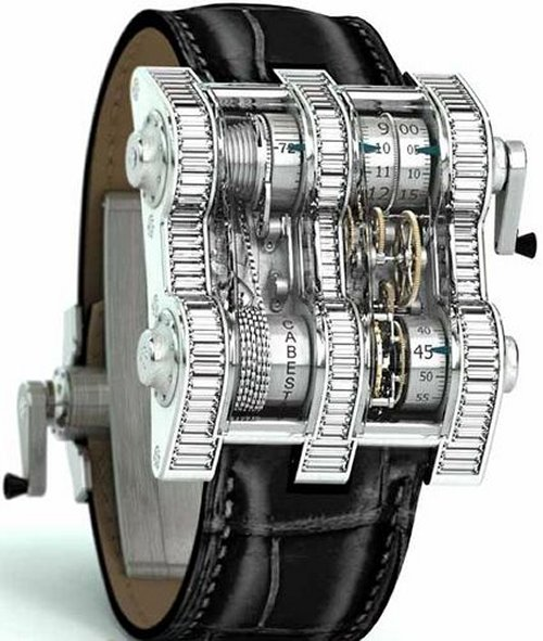 Cabestan Winch Tourbillion Watch has a chain drive