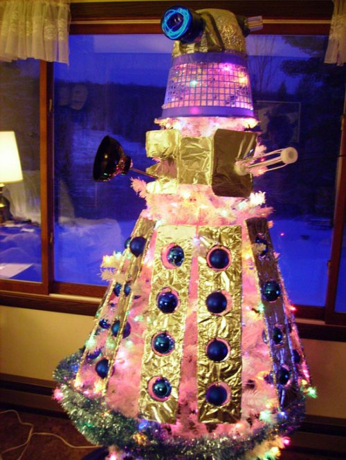 Crazy Dalek Christmas tree exterminates holiday cheer