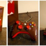 Xbox 360 with a cool Domo-kun paint job