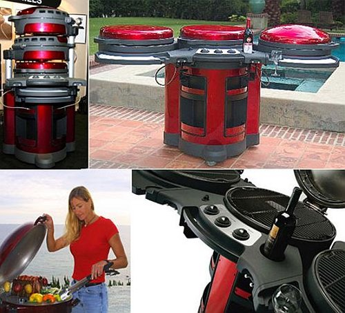 Elite outdoor grill unfolds, looks at home on Tatooine