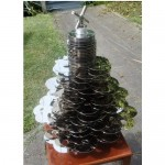 Christmas Tree made from 70 recycled Hard Drives
