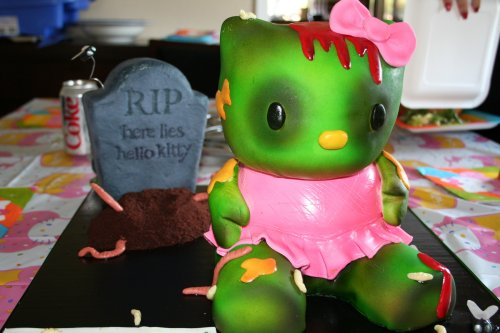 Hello Kitty Zombie Cake