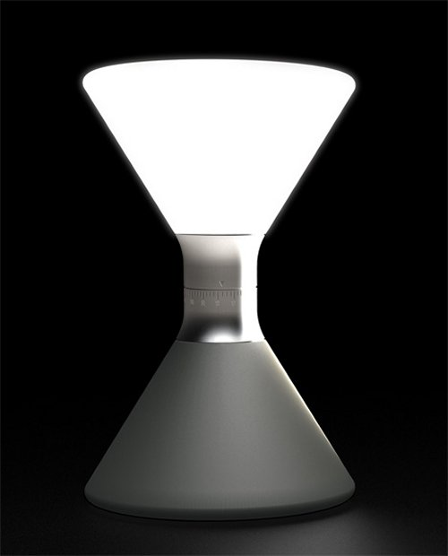 Hourglass Lantern replaces sand with LED light