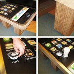iPhone Coffee Table with built-in coaster app