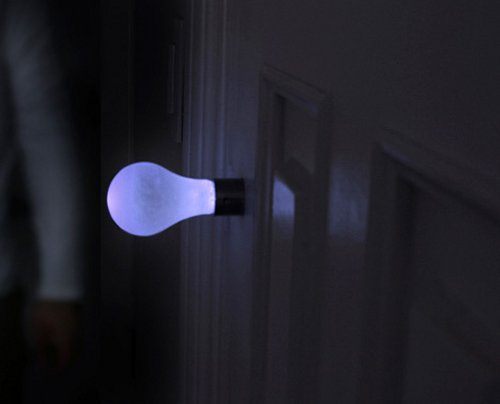Knob Light sounds dirty, puts a light bulb on your door