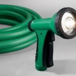 LED hose nozzle for night gardening