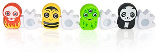 Poken USB figures exchanges contacts with huge hands