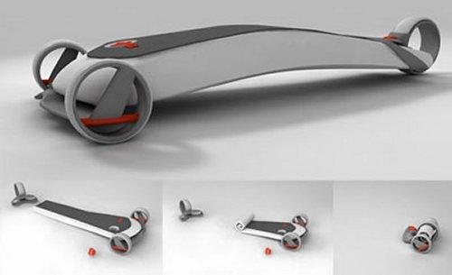 Pumpboard: A folding, portable Skateboard
