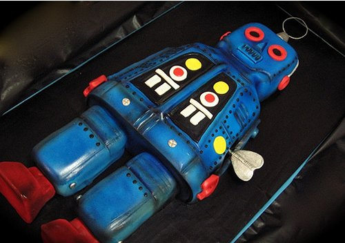 Vintage Tin Robot Cake