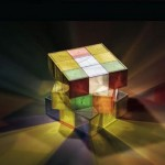 Rubik's Cube lamp is a puzzling light source