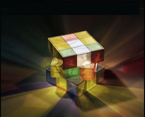 Rubiks Cube lamp is a puzzling light source