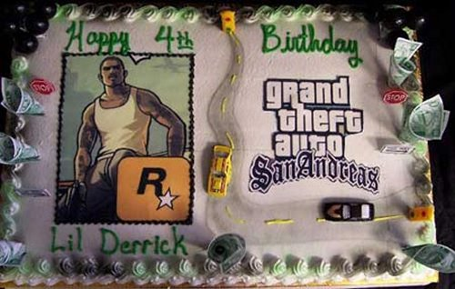 Grand Theft Auto Cake For a 4-Year Old
